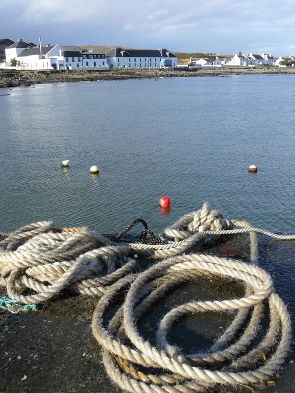 Bruichladdich Distillery and Ropes on the Pier