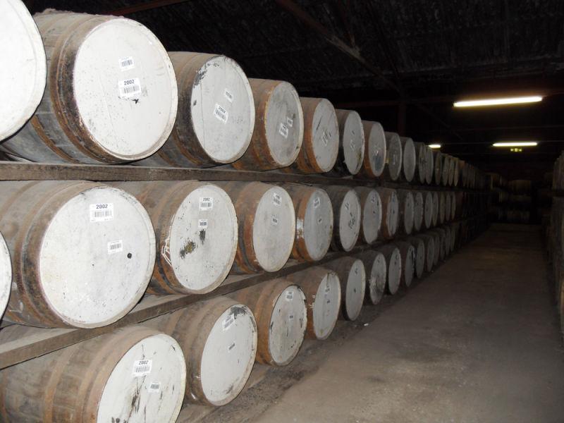 Casks Stored in Bruichladdich Warehouse