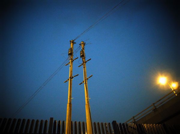 POLE AND WIRE