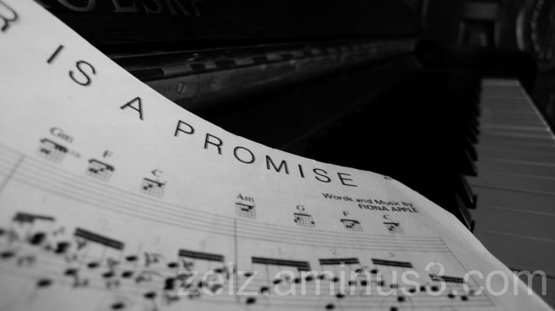 a piano sheet music of Never Is A Promise