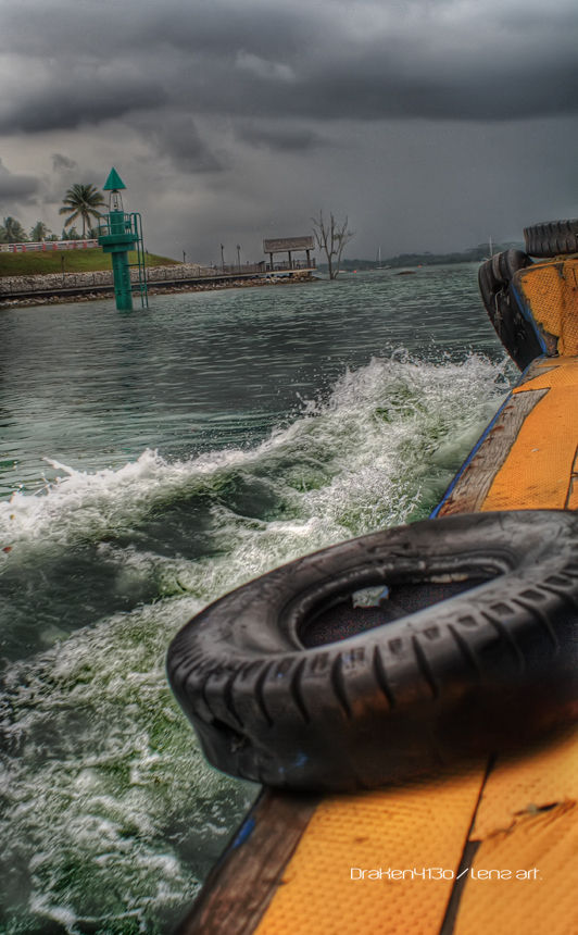 A boat Ride to pulau ubin