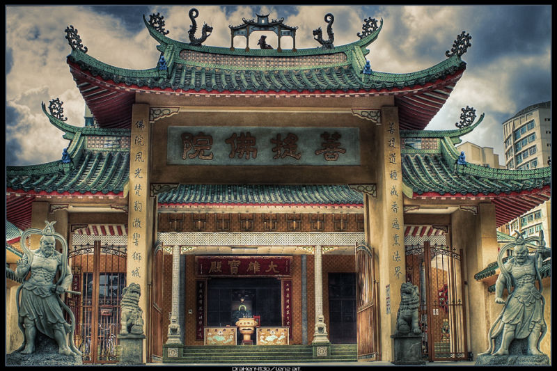 A HDR of a chinese Temple