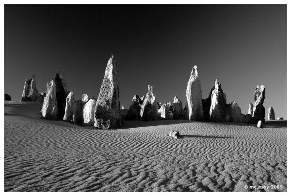 Australia, Pinnacles, rock, sand