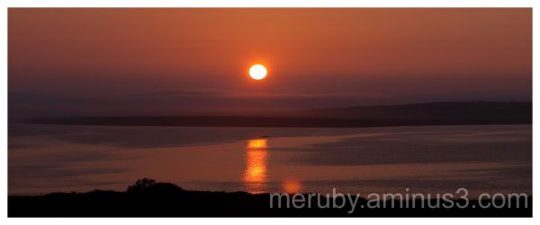 Foggy sunset on Islay
