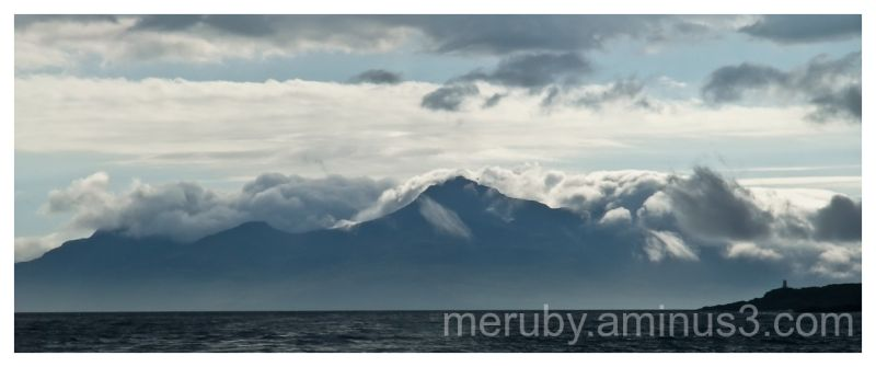 Cloudy view of Rum