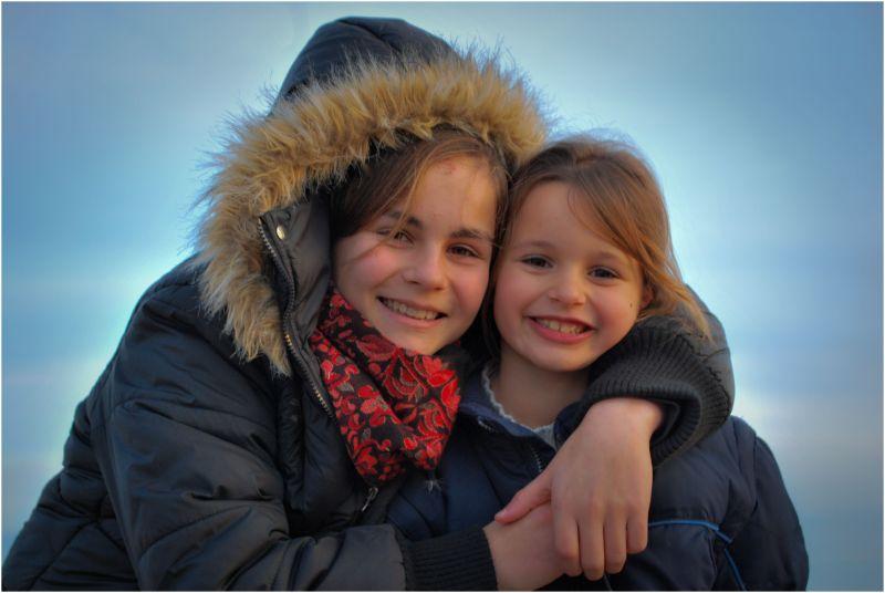 Portrait of Two smiling cousins
