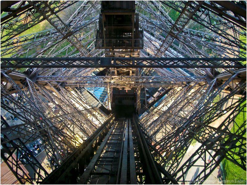 Eiffel Tower from inside