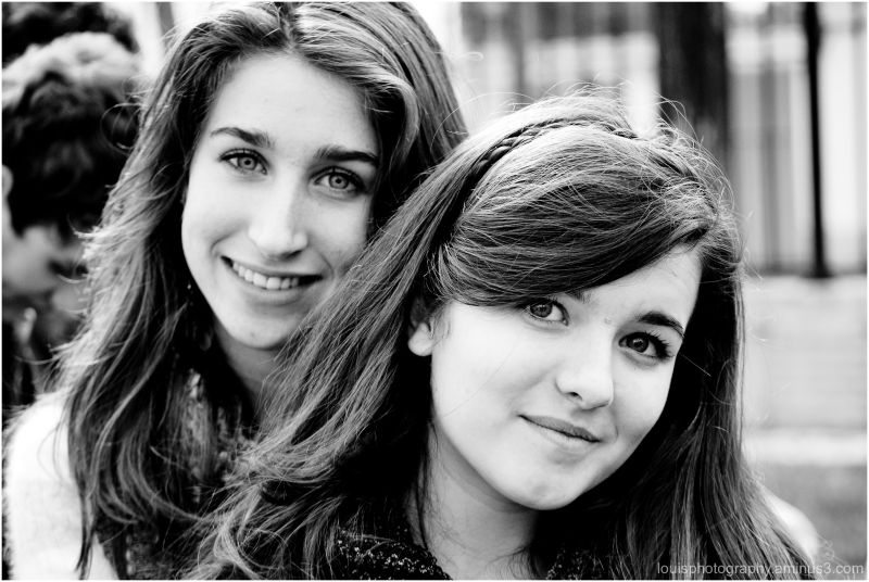 2-smiling-girls-cute-black and white