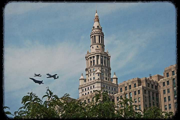 Air Force Heritage Over Cleveland