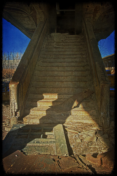 Stairs to Tracks