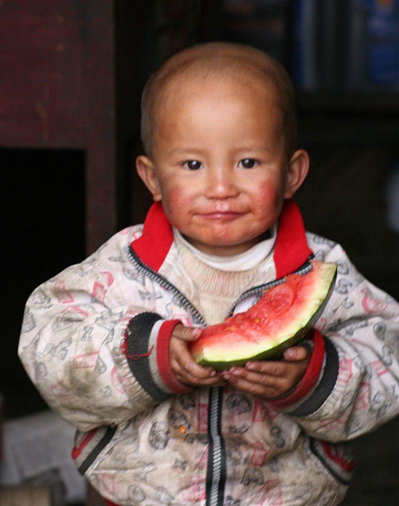 portrait of tibetan child