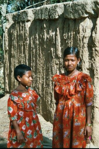 nice young girls in a little village of Bangladesh