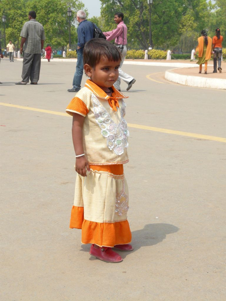 portrait d'enfant à Delhi