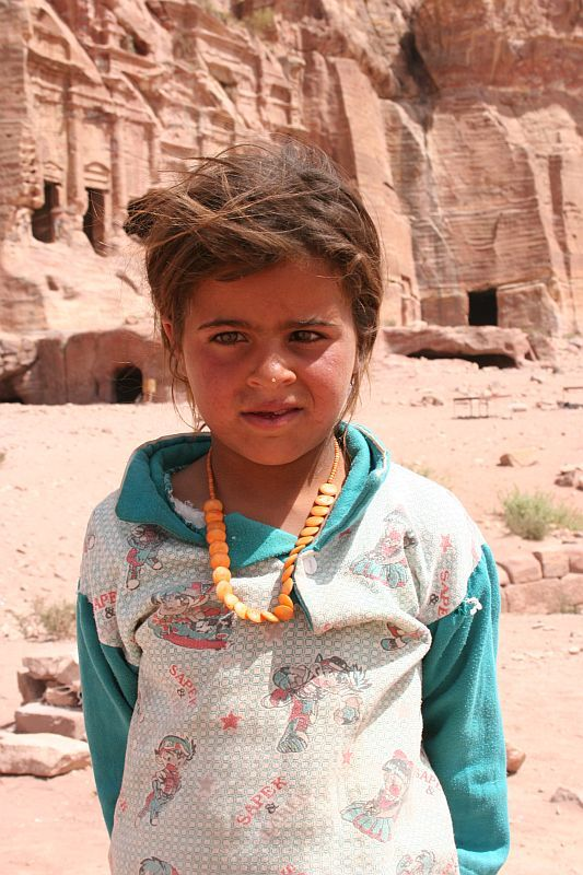 nice young girl in Petra