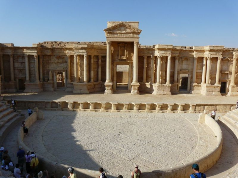 Palmyre theater in Syria