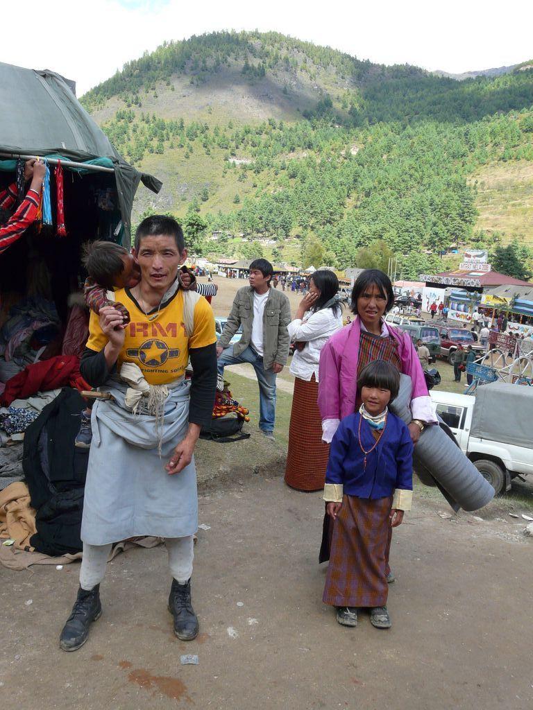 lovely family in Bhutan