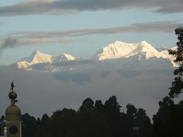 Kanchenjunga mountain in Darjeeling