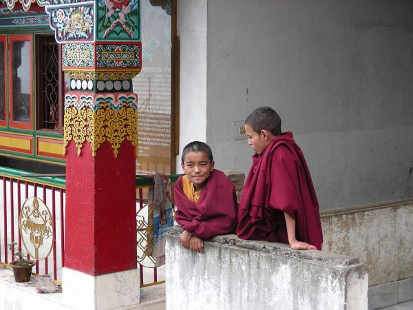 in a temple
