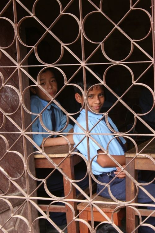 at school in Nepal