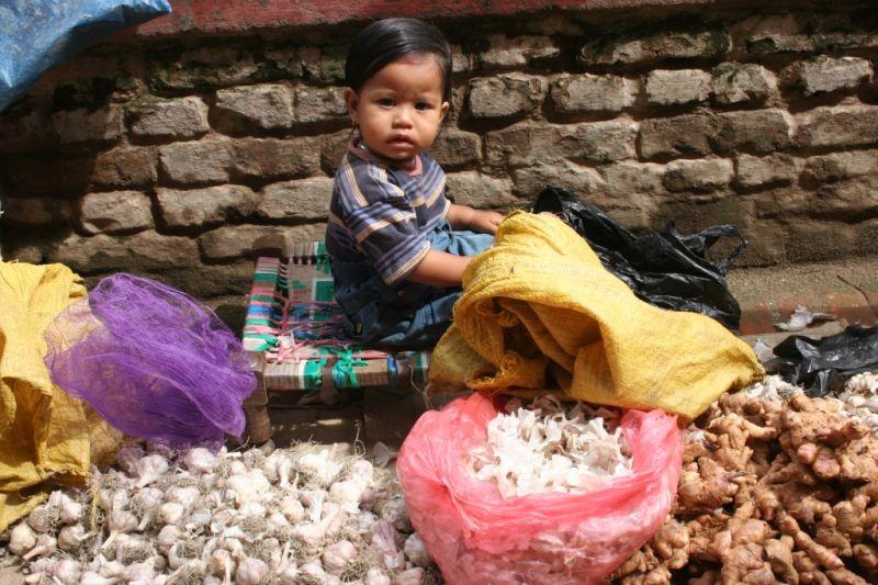 market view in Kathmandu
