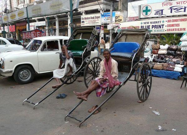 the last pousse pousse in India, in Kolkata