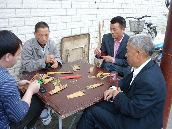 mahjong players in Kunming (Yunnan)