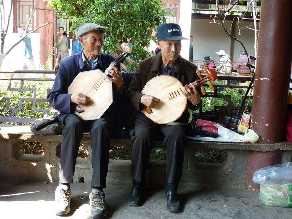 old street musicians in Kunming