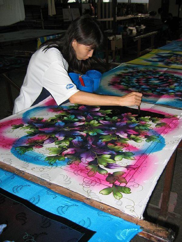 batik fabrik in Malaisia