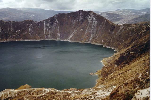 laguna of Quilotoa in Ecuador