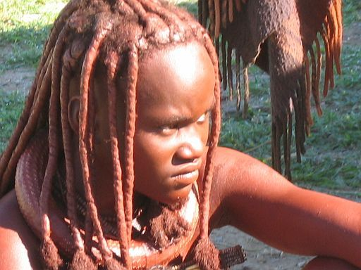 young himba woman in dream (Namibia)