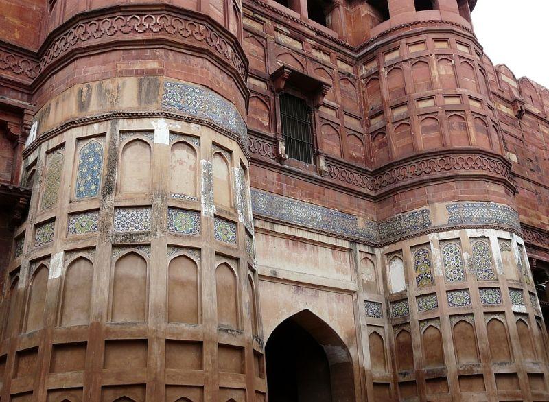 le Fort Rouge à Agra; la porte principale