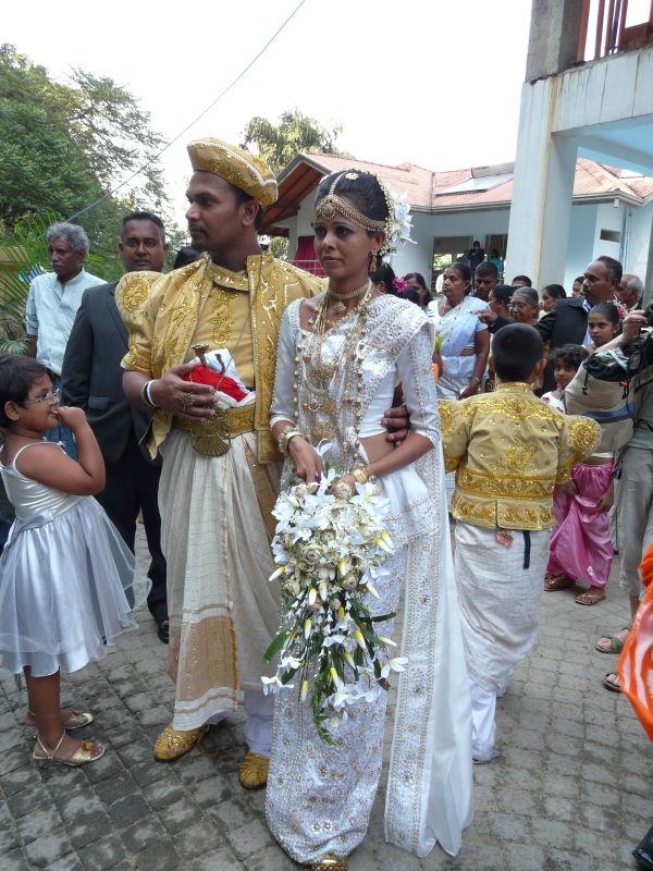 un mariage au Sri Lanka