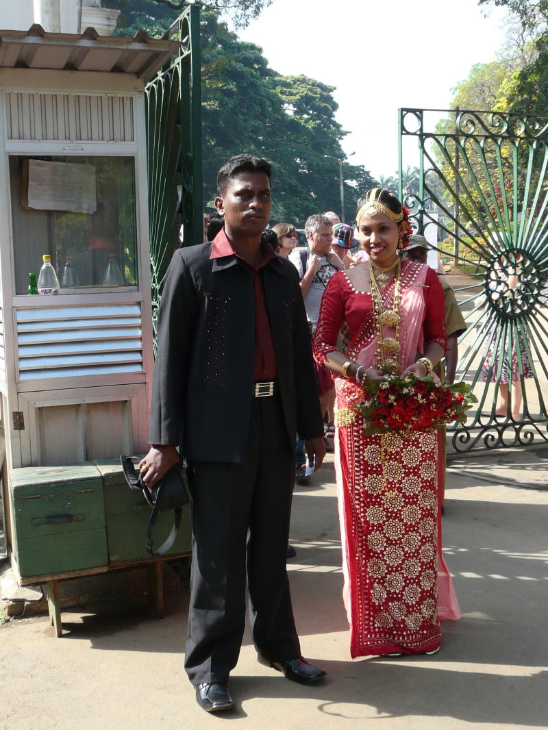 wedding's second day; wife'cloths are red