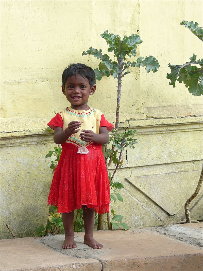 portrait d'enfant au Sri lanka