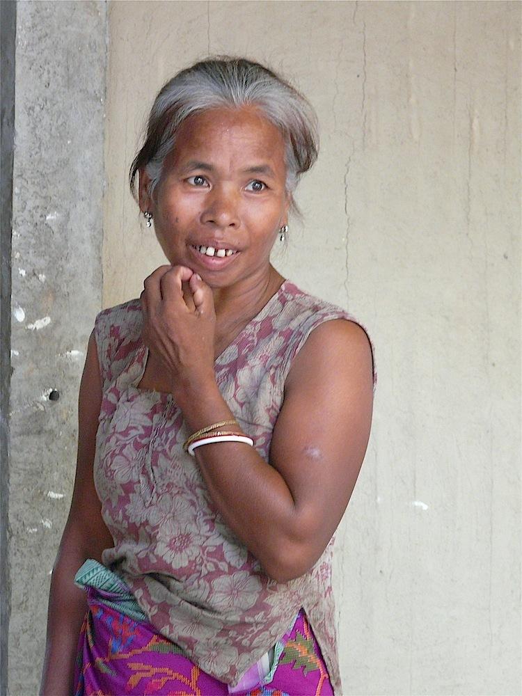 portrait de femme dans l'Arunachal pradesh