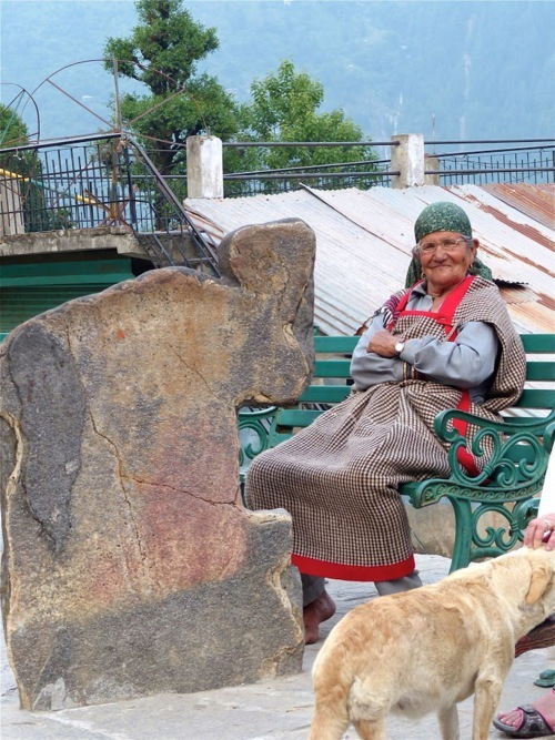 old woman in Himachal pradesh (north India)
