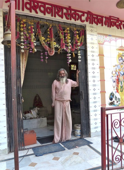 Shiva temple's prister