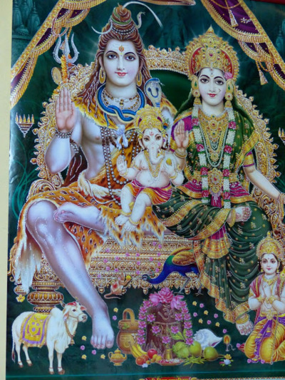 Shiva and his familie
