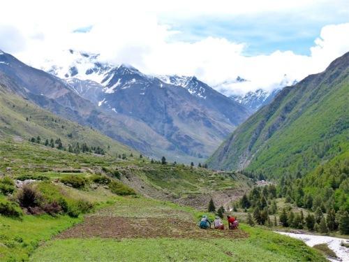 mountain landscape in Himalaya