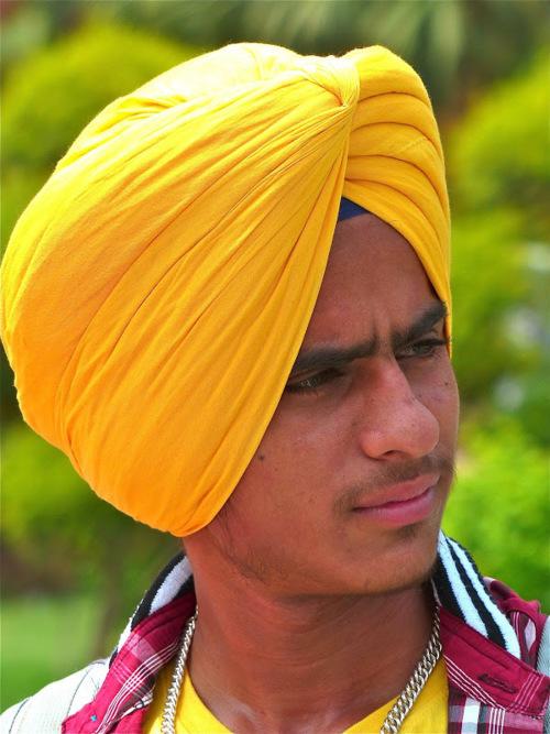 sikh youg man portrait