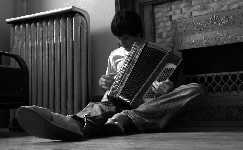 Early morning accordion jam