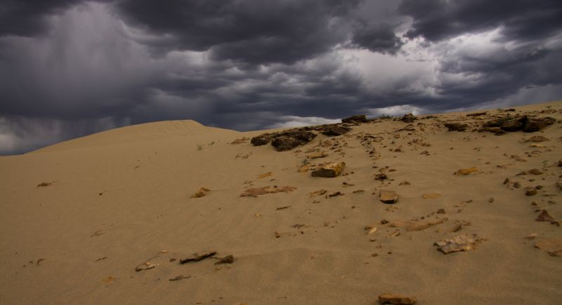 Sand Storm Dunes Wyoming Clouds