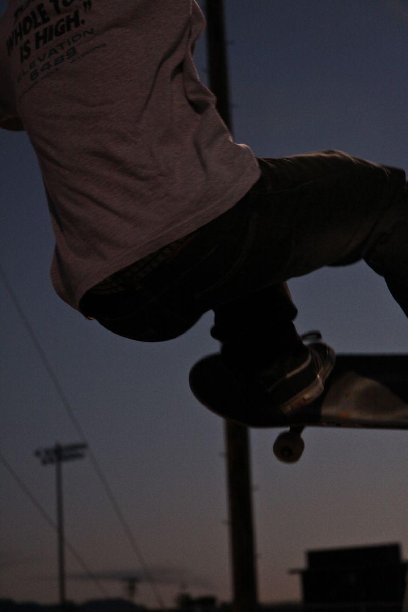 Skate Dusk Jackson Hole Wyoming