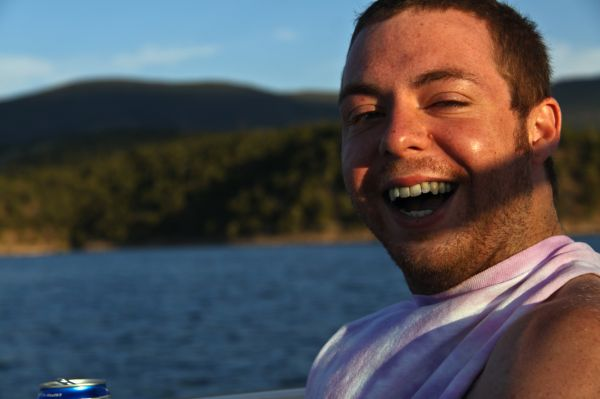 Joe Utah Gorge Flamming Boat Smile