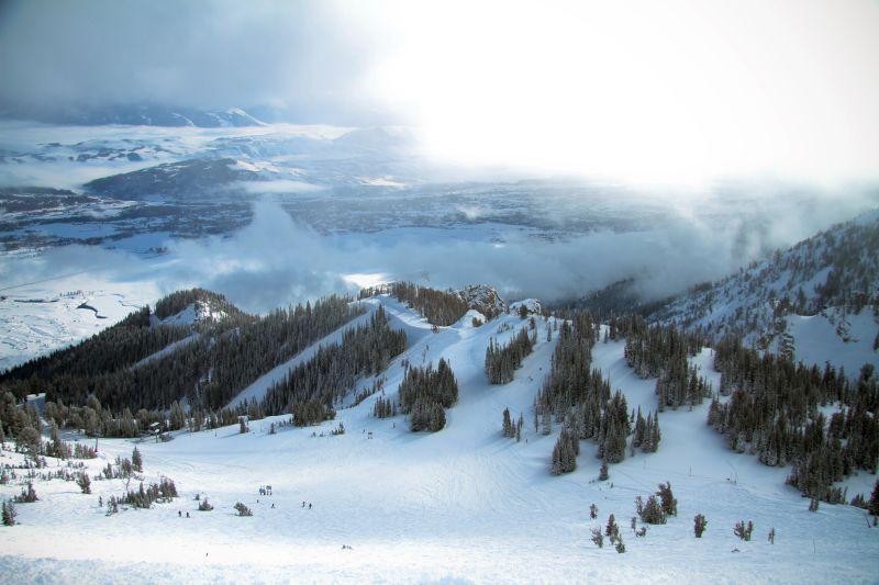 Jackson Hole Wyoming Skiing Teton National Park