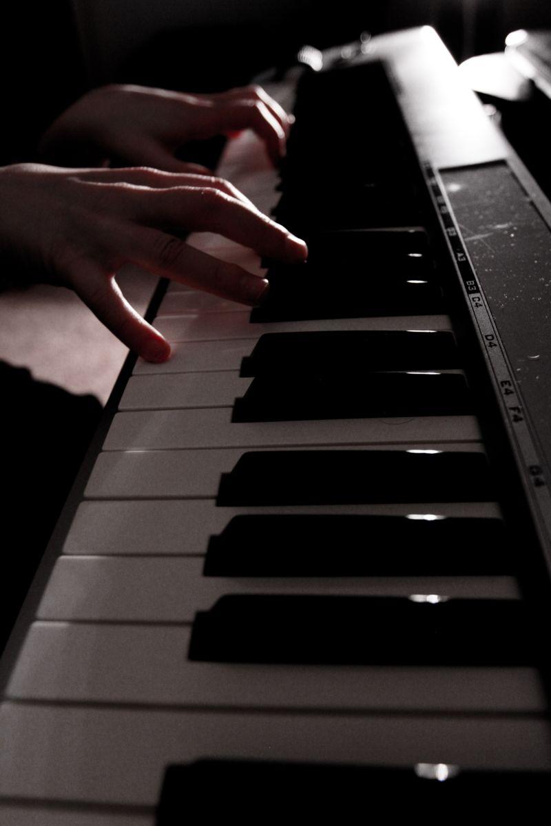Piano, keyboard, music, light, professional photo