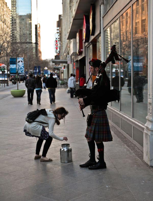Denver Colorado Downtown Bagpipes Epic