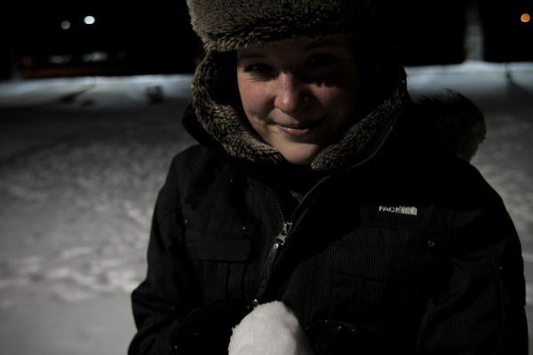 Carrie snow laramie wyoming cold night