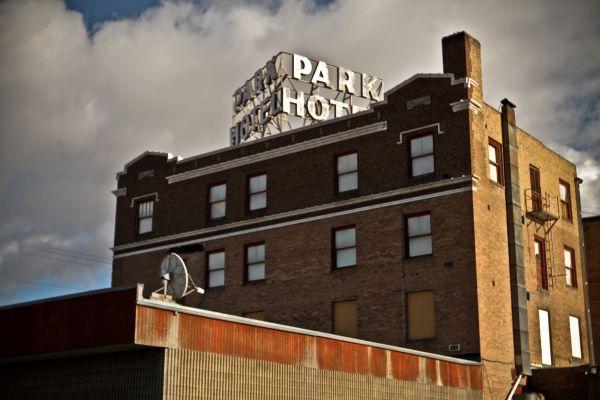 Rock Springs Wyoming Park Hotel Bar vintage