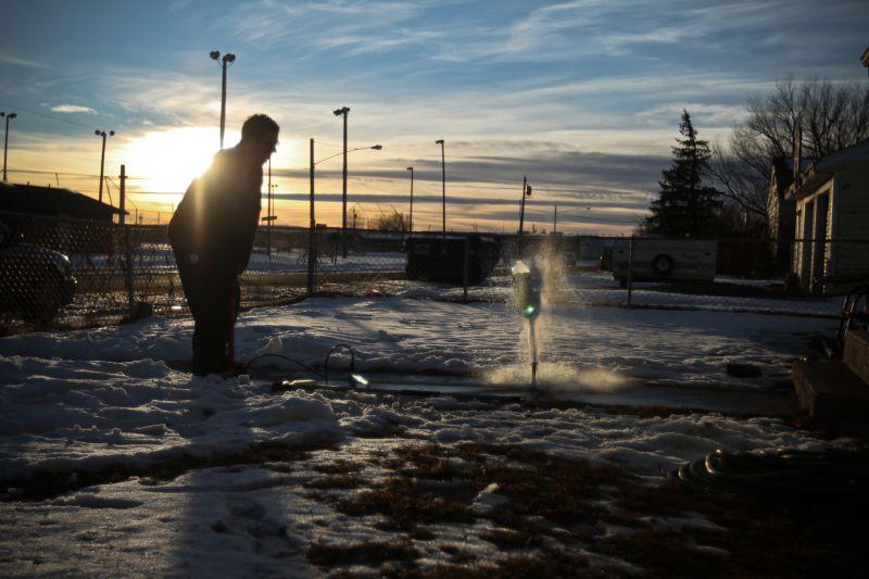 Laramie Wyoming  Joe Hampton Water Rocket